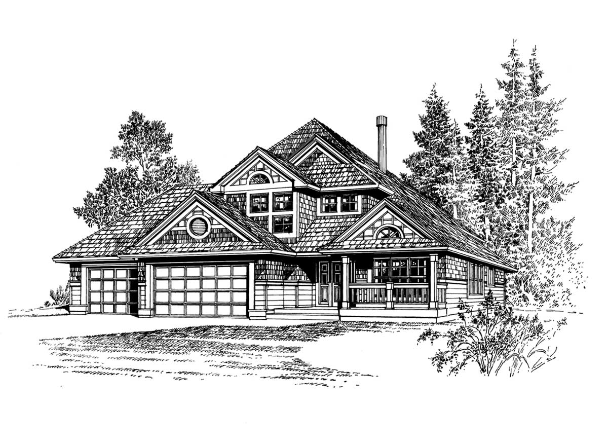 Shingle Style Floor Plans Plan: 88-197