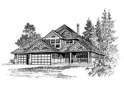 Shingle Style House Plans Plan: 88-197