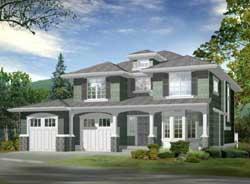 Shingle Style Home Design Plan: 88-210