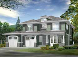 Traditional Style Home Design Plan: 88-212
