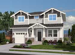 Craftsman Style Home Design Plan: 88-218