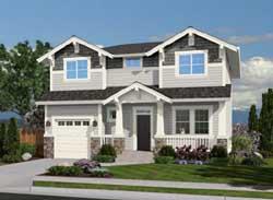 Craftsman Style Home Design Plan: 88-219