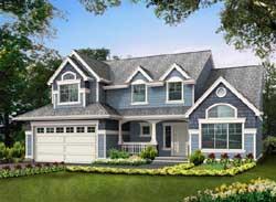 Craftsman Style Home Design Plan: 88-235