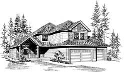 Northwest Style Floor Plans Plan: 88-240