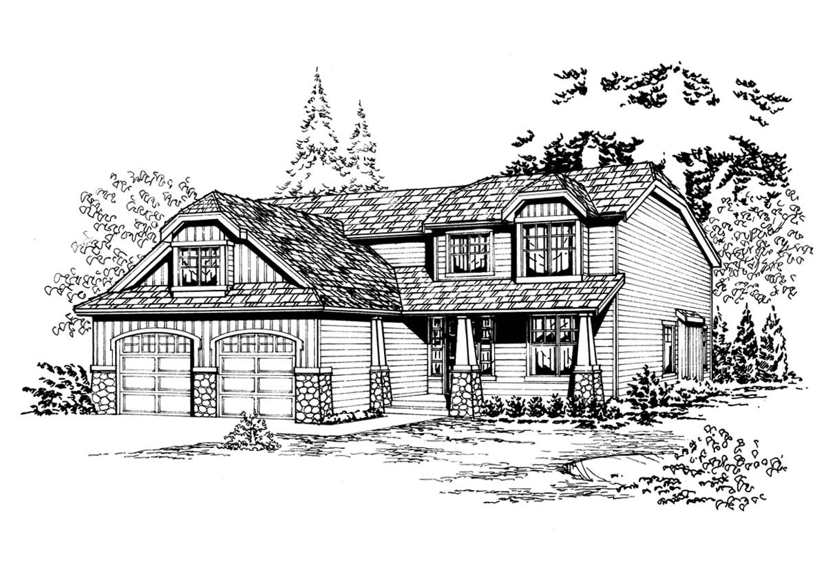 Craftsman Style House Plans Plan: 88-242