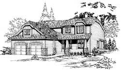 Craftsman Style Floor Plans Plan: 88-242