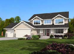 Craftsman Style Home Design Plan: 88-256