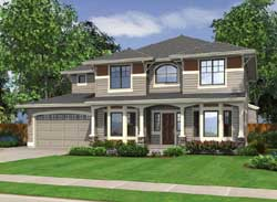 Craftsman Style Home Design Plan: 88-261