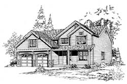 Country Style Home Design Plan: 88-268