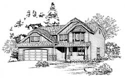 Craftsman Style Home Design Plan: 88-269