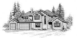 Craftsman Style Home Design Plan: 88-271
