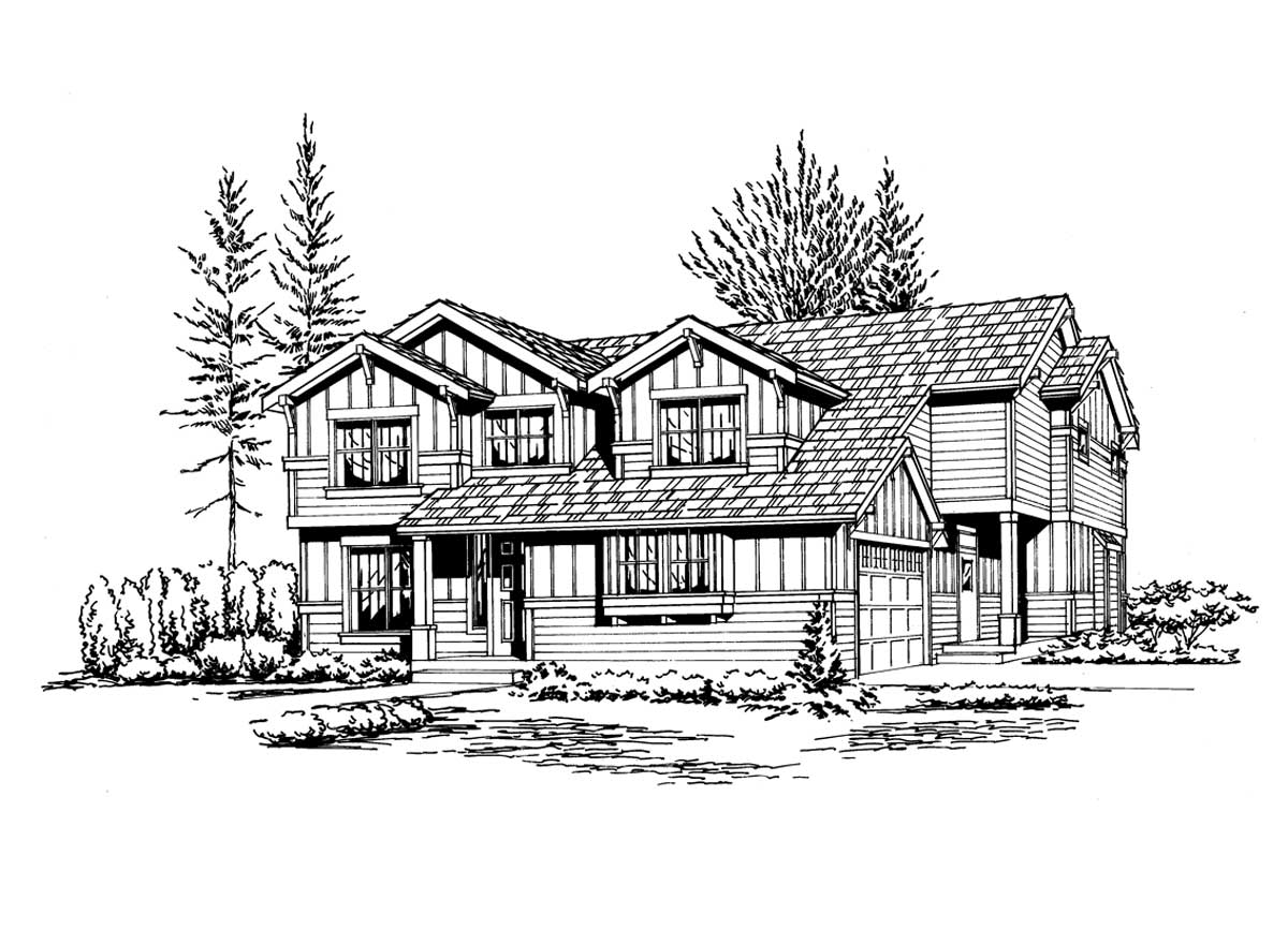 Northwest Style House Plans Plan: 88-275