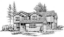 Northwest Style Floor Plans Plan: 88-275
