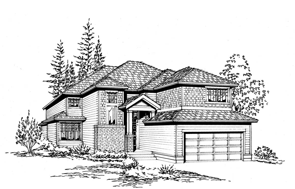 Northwest Style House Plans Plan: 88-286
