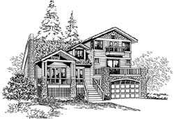 Northwest Style House Plans Plan: 88-289
