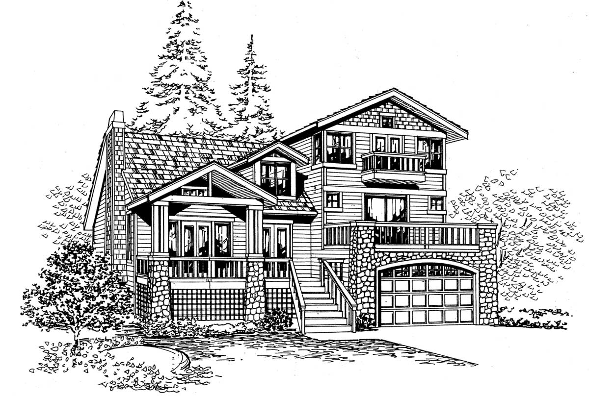 Northwest Style House Plans Plan: 88-290