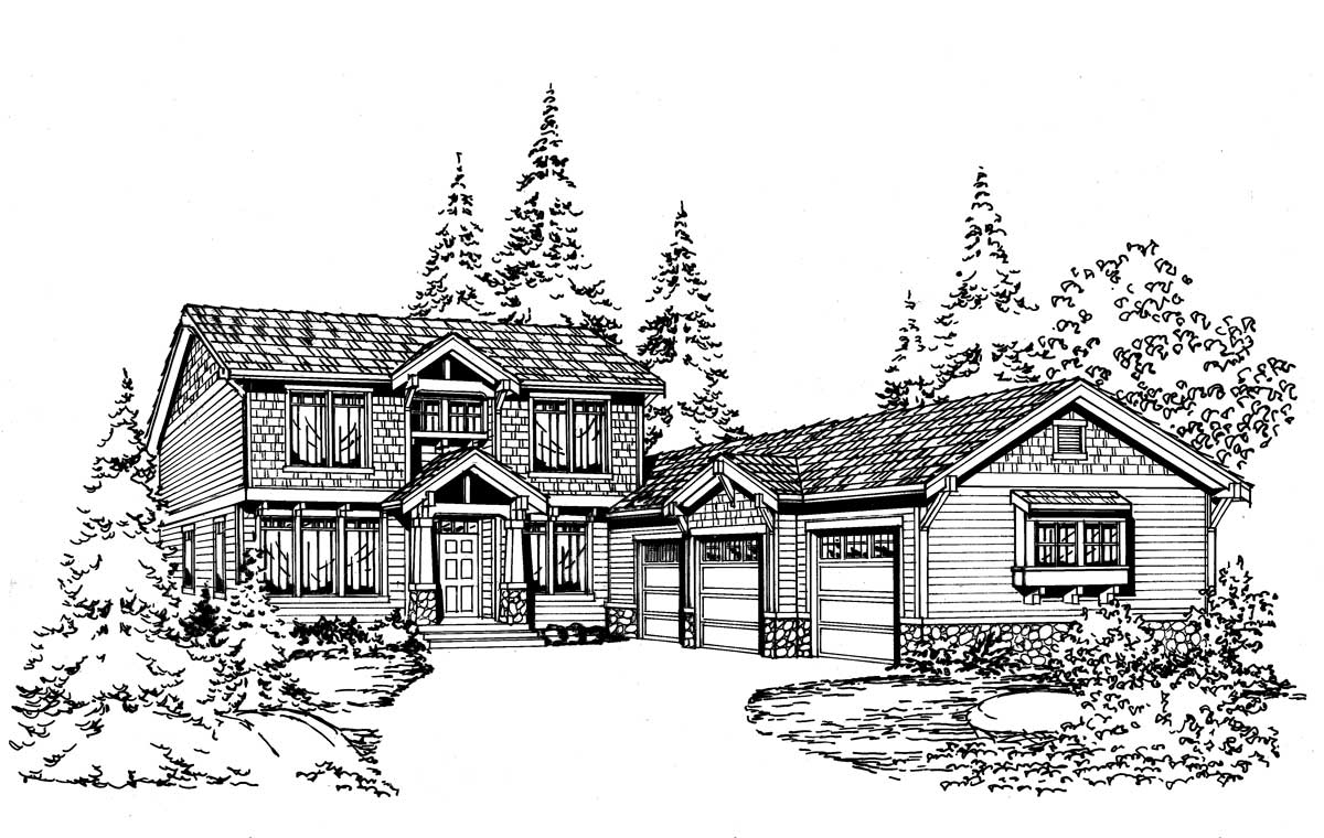 Northwest Style Floor Plans Plan: 88-291