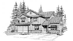 Northwest Style House Plans Plan: 88-295