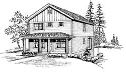 Country Style House Plans Plan: 88-300