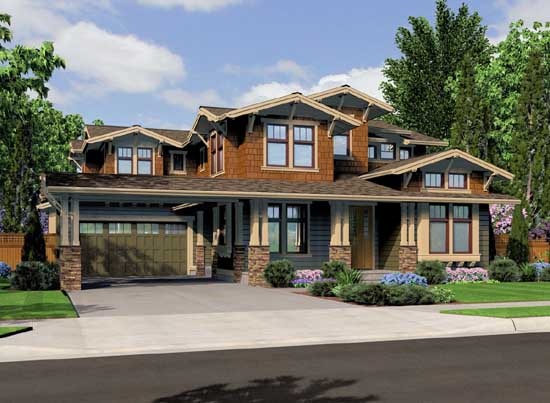 Craftsman Style Home Design Plan: 88-304