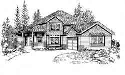 Craftsman Style Home Design Plan: 88-306