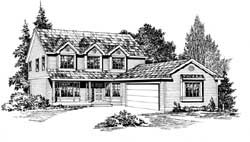 Farm Style Floor Plans Plan: 88-312