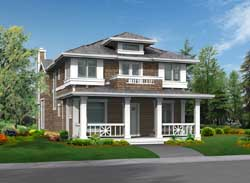 Shingle Style House Plans Plan: 88-316