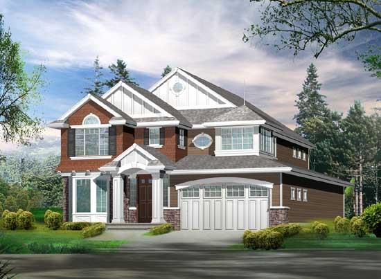 Hampton Style House Plans Plan: 88-321