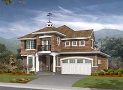Hampton Style Home Design Plan: 88-325