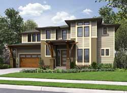 Modern Style Floor Plans Plan: 88-328
