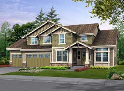 Craftsman Style Home Design Plan: 88-347
