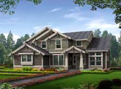 Craftsman Style Home Design Plan: 88-350