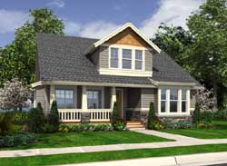 Bungalow Style Home Design Plan: 88-353
