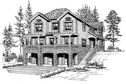 Northwest Style House Plans Plan: 88-355