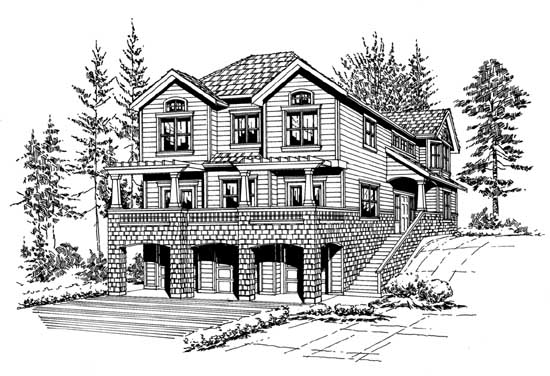 Northwest Style Home Design Plan: 88-356