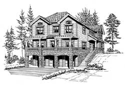 Northwest Style Floor Plans Plan: 88-356