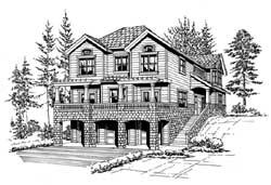 Northwest Style Home Design Plan: 88-356