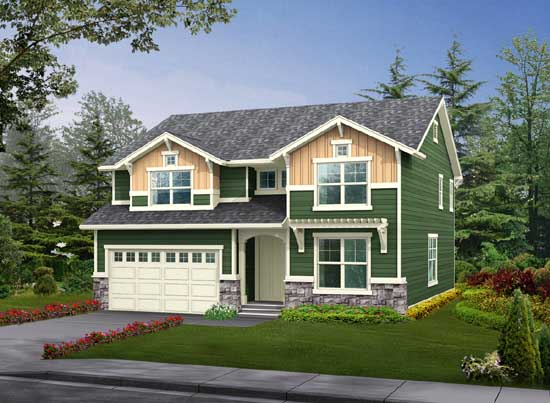 Craftsman Style House Plans Plan: 88-357