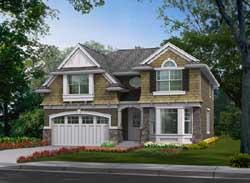 Shingle Style Home Design Plan: 88-361