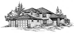 Northwest Style Floor Plans Plan: 88-372