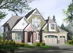 Hampton Style Floor Plans Plan: 88-374