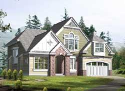 Shingle Style Home Design Plan: 88-377