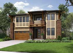Modern Style House Plans Plan: 88-393