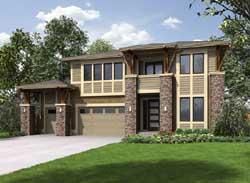 Modern Style House Plans Plan: 88-395