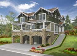 Craftsman Style Home Design Plan: 88-396