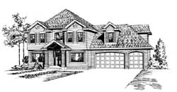 Traditional Style Home Design Plan: 88-402