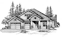 Craftsman Style House Plans Plan: 88-404