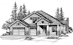 Craftsman Style House Plans Plan: 88-405