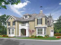 Hampton Style House Plans Plan: 88-409