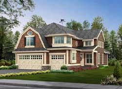 Hampton Style Home Design Plan: 88-410